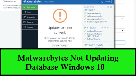 Malwarebytes Not Updating Database Windows 10 (1-800-215