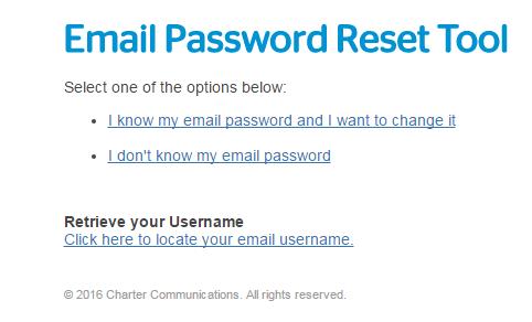 change roadrunner password