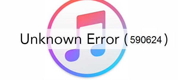 iTunes Error 590624