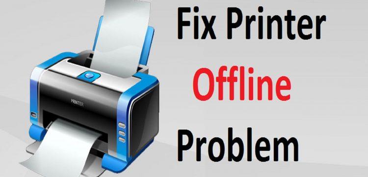printer offline status on windows 7