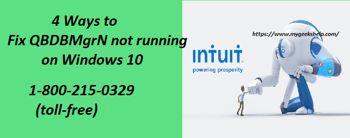 QBDBMgrN not running on Windows 10