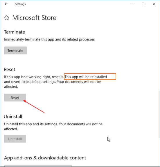 Microsoft Store Reinstall