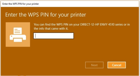 wps pin hp prnter