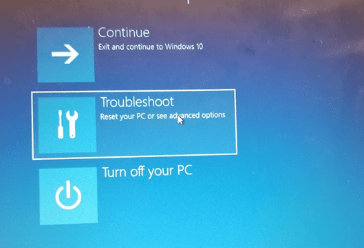 How to reset windows to factory settings.