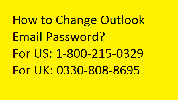 How to Change Outlook Password?