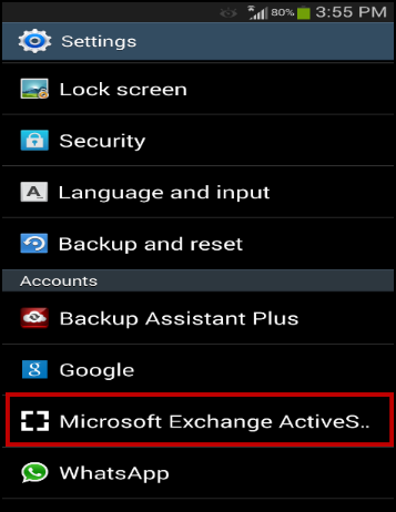 Microsoft outlook password change