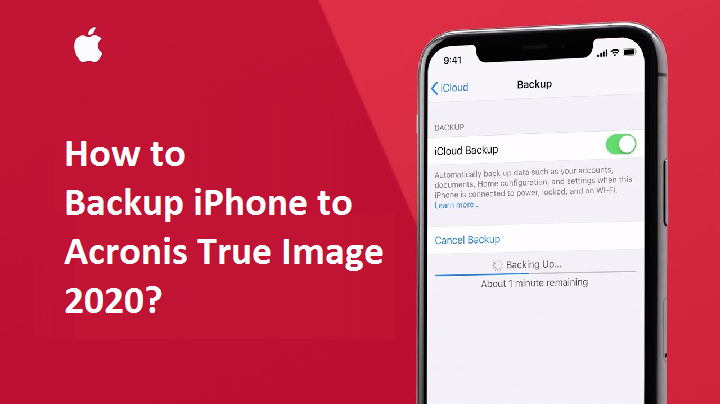 how to Backup iPhone to Acronis True Image?