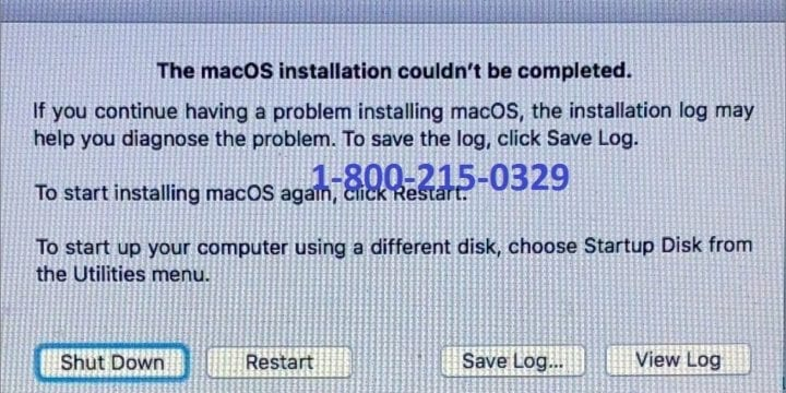 Fix Installation of Mac Operating System Couldn't be Completed