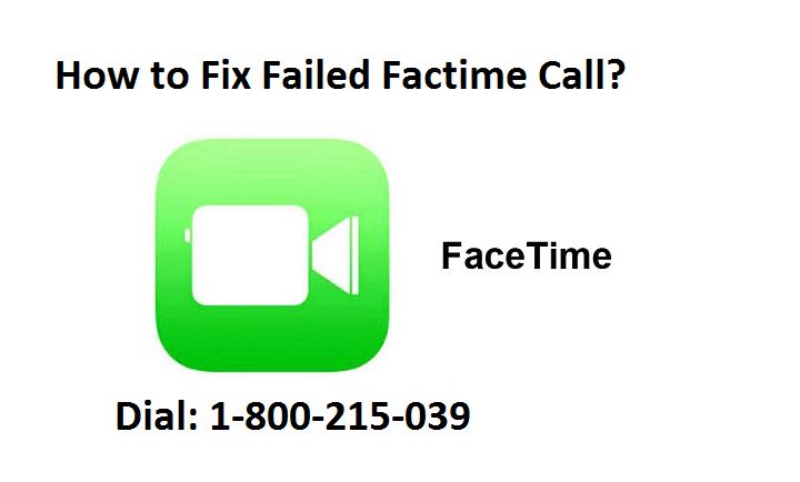 failed facetime call