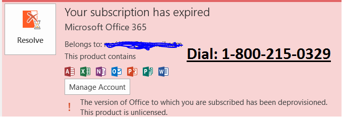 MS Office expired