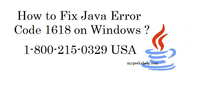 How to Fix Java Error Code 1618?