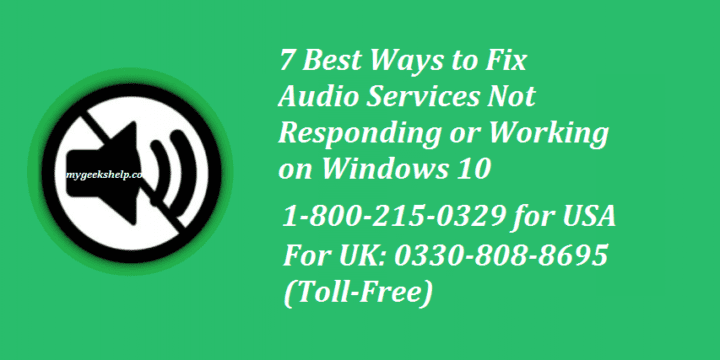 How to Fix Audio Services Not Responding?