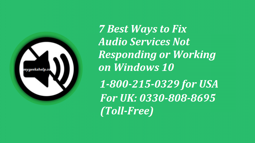audio services not responding windows 10