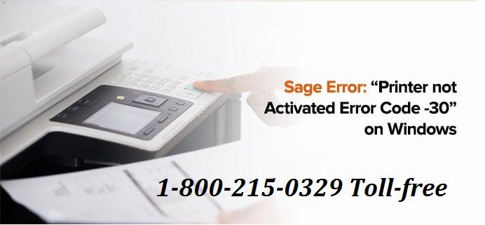 printer not activated error code 30