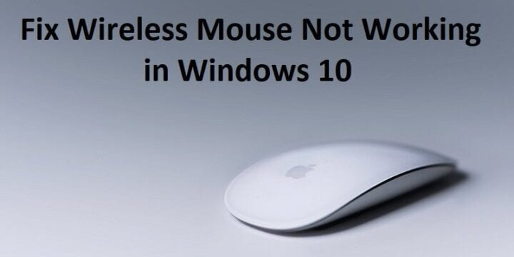 Wireless Mouse stopped working? Here are some tips to fix this