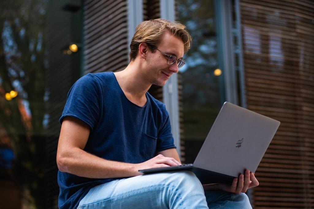Professional Using Laptop