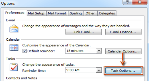 Setting Remainders in Outlook 2016, 2007